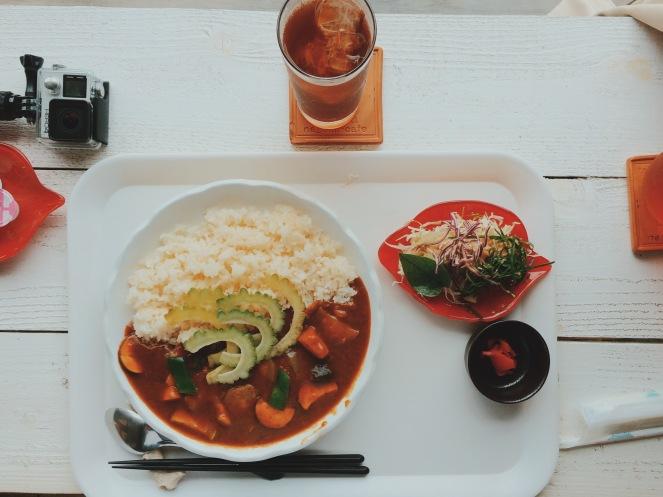 苦瓜蔬菜咖哩飯